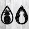 Pineapple teardrop Earring Svg