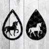 Unicorn Drop Earring SVG