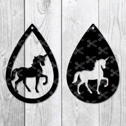 Unicorn Drop Earring SVG