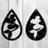 Mermaid Teardrop earring SVG DXF PNG