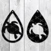 Tear Drop Earrings Sea Turtle Svg