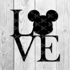 FREE Love Mickey Mouse SVG