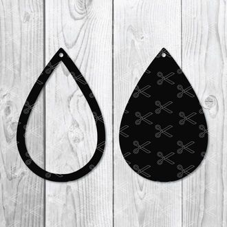 teardrop earring svg dxf png