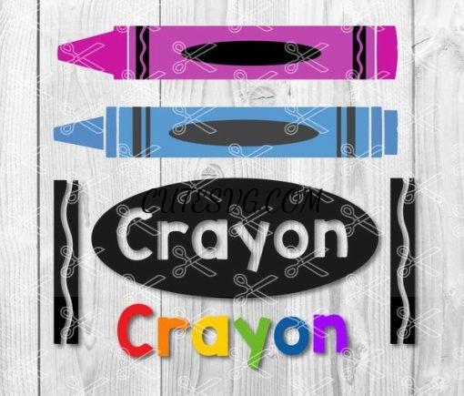 Crayon svg file