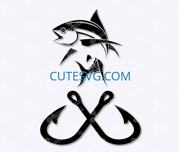 Download Fishing Hook Svg Dxf Png Cut Files