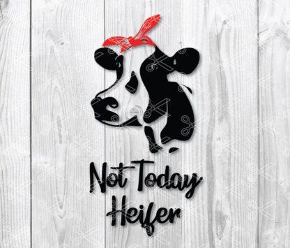 not today heifer svg