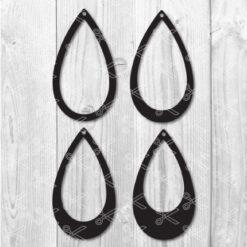 teardrop earring templates svg cut files