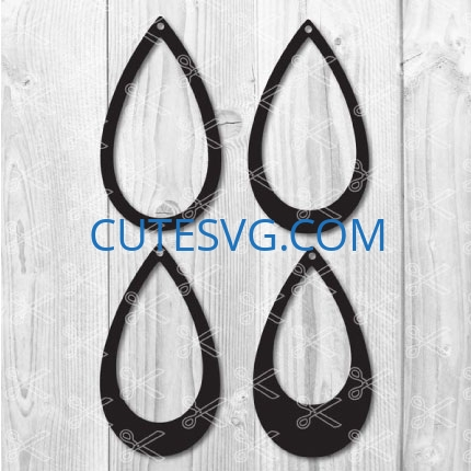 teardrop earring templates svg cut files