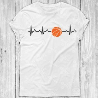 Basketball Heartbeat SVG