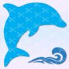 Dolphin Waves SVG