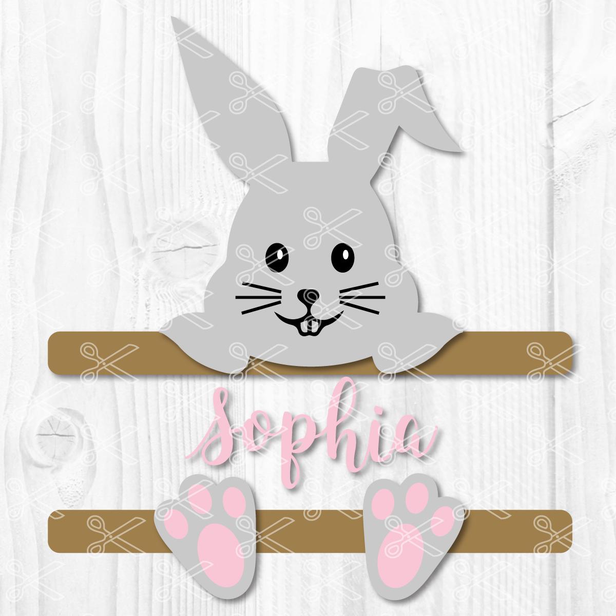 Split bunny Easter basket Bunny Easter Basket monogram Easter basket kids Easter basket