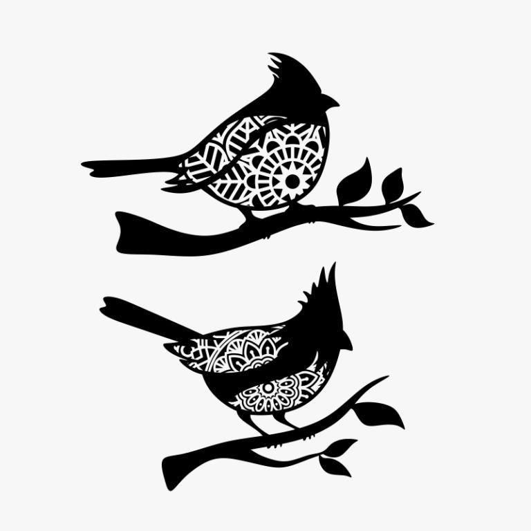 Cardinal bird mandala SVG