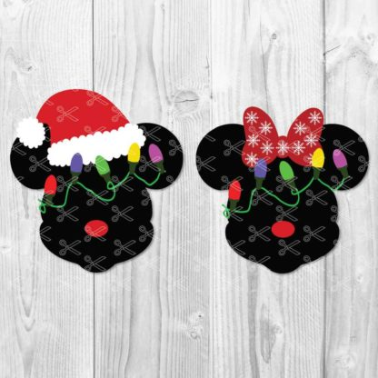 Mickey Mouse in Santa Hat SVG