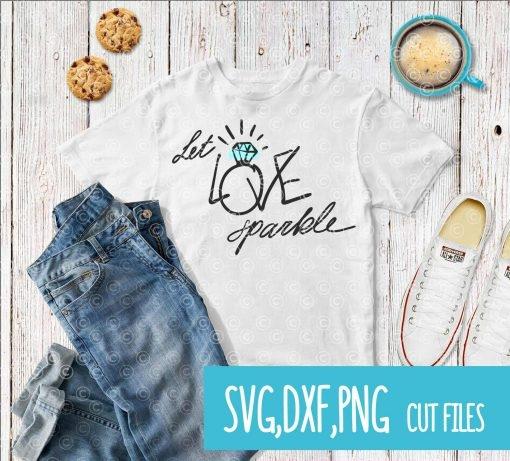 let love sparkle SVG DXF PNG Cut files