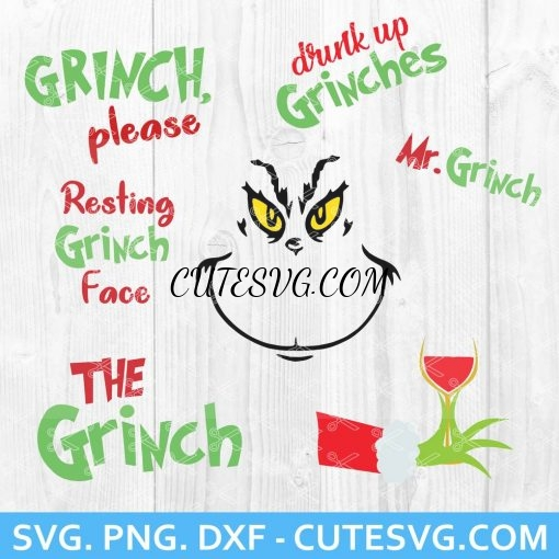 Grinch Bundle SVG