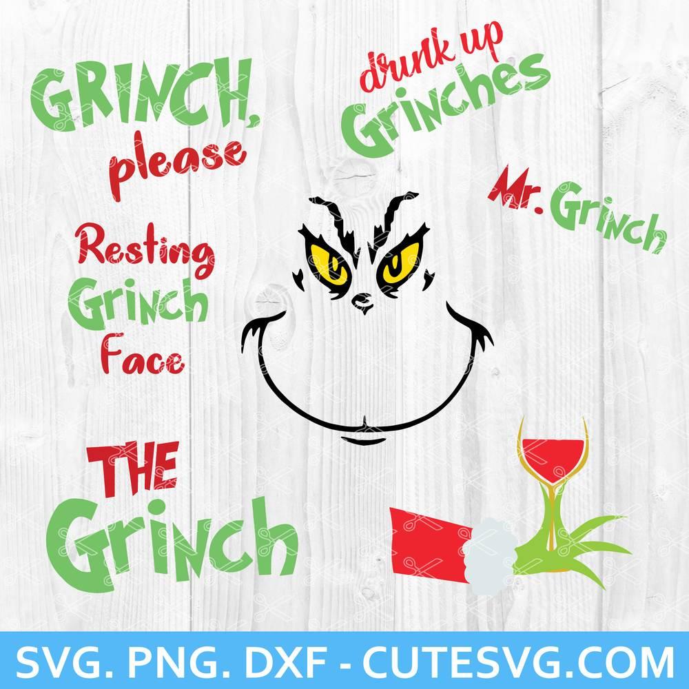 Grinch Svg Bundle Png Cut Files The Grinch Svg Mr Grinch Svg