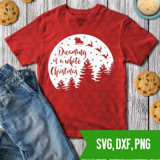 dreaming of a white christmas svg dxf png cutfiles 1