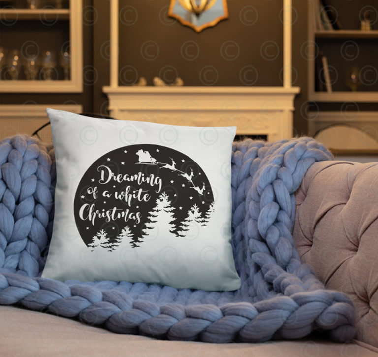 dreaming of a white christmas SVG png DXF