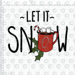 LEt it snow SVG DXF PNG cutting files