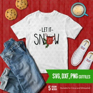 Let it snow SVG DXF PNG Cut file