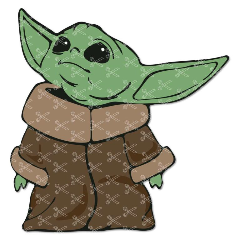 Baby Yoda Svg Dxf Png Cutting Files For Cricut Silhouette