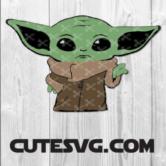 Baby Yoda SVG Cut Files