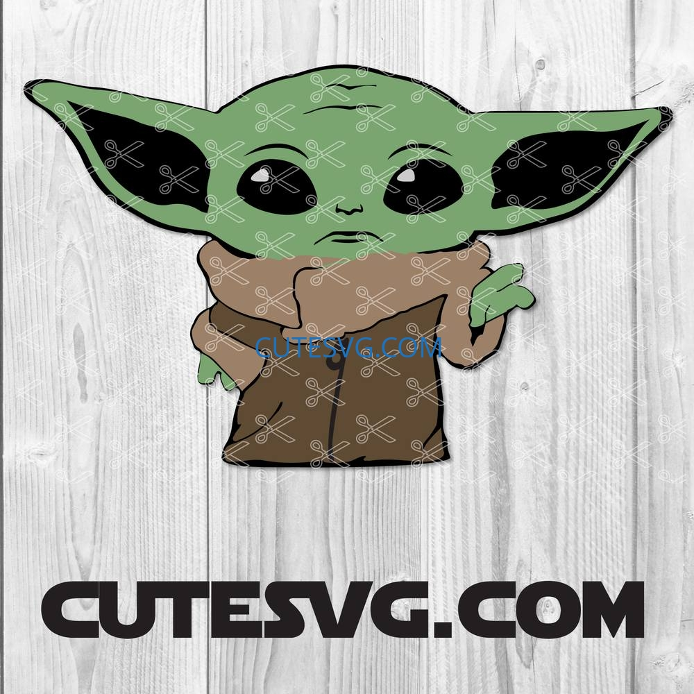 Baby Yoda Svg Dxf Png Eps Baby Yoda Cut Files