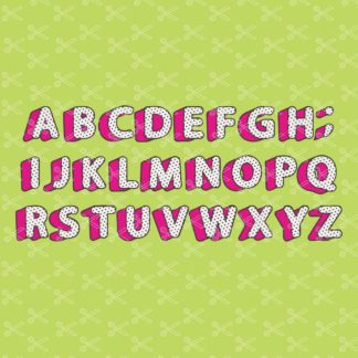 LOL Surprise Alphabet Polka Dot Font SVG