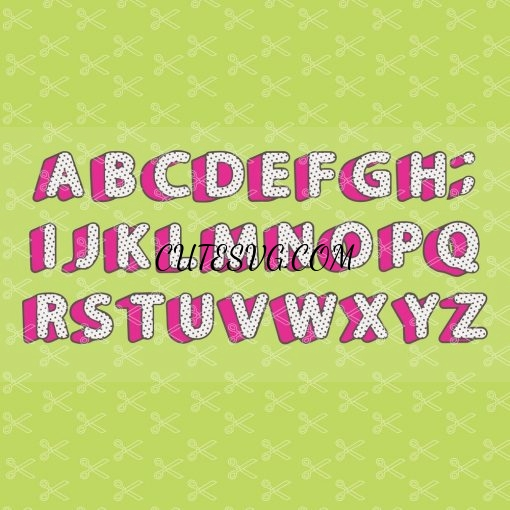 LOL Surprise Alphabet Polka Dot Font SVG