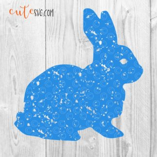 Distressed Easter Bunny SVG DXF PNG Cutfiles