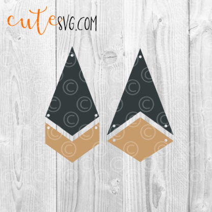 Faux Leather Dangle earrings SVG DXF PNG Cut files