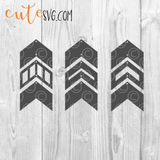 geometric dangle earring templates SVG DXF PNG Cut files