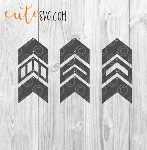 geometric dangle earring templates SVG DXF PNG Cut files