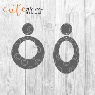Geometric Earring Templates SVG DXF PNG Cut files