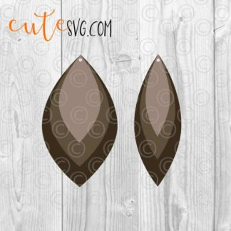 Layered leather earring templates cut files SVG PNG DXF