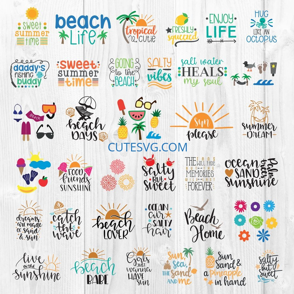 31+ Sweet Beach – Svg File Crafter Files