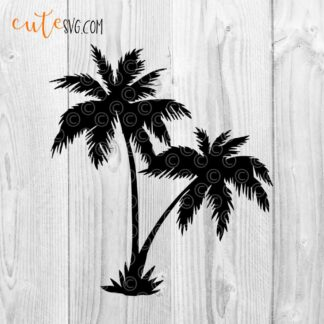 Palm silhouette SVG DXF PNG Cut files