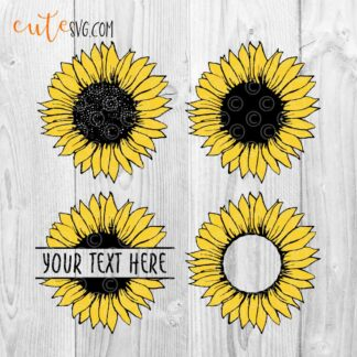 Sunflower-bundle-sunflower-monogram-splitted-svg-dxf-png-cut-file