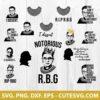 Ruth Bader Ginsburg SVG Cut File