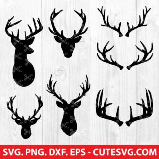 Deer Antlers SVG Cut File