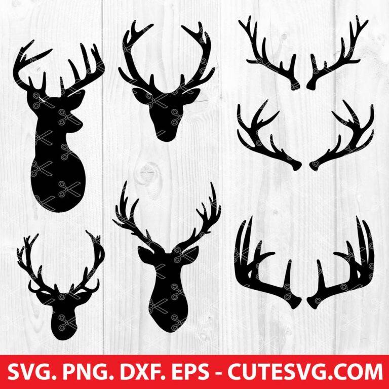 Deer And Antlers Svg Cut Files Deer Horn Svg Instant Download