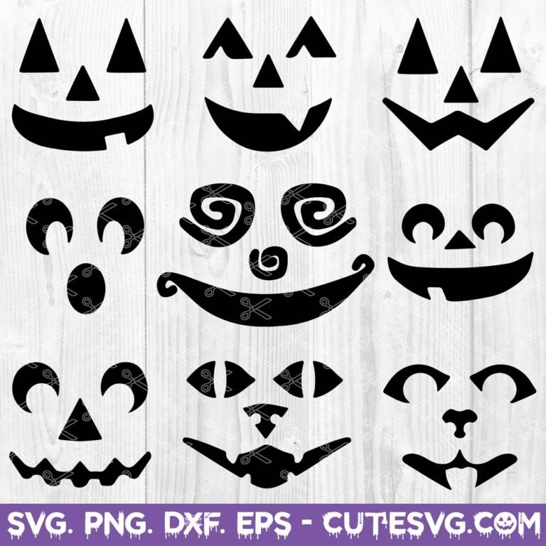 Pumpkin Face SVG