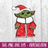 Merry Christmas Baby Yoda Star Wars The Mandalorian SVG