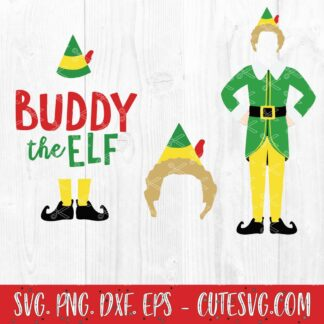 Buddy - Elf Movie - OMG! Santa! I know Him! SVG