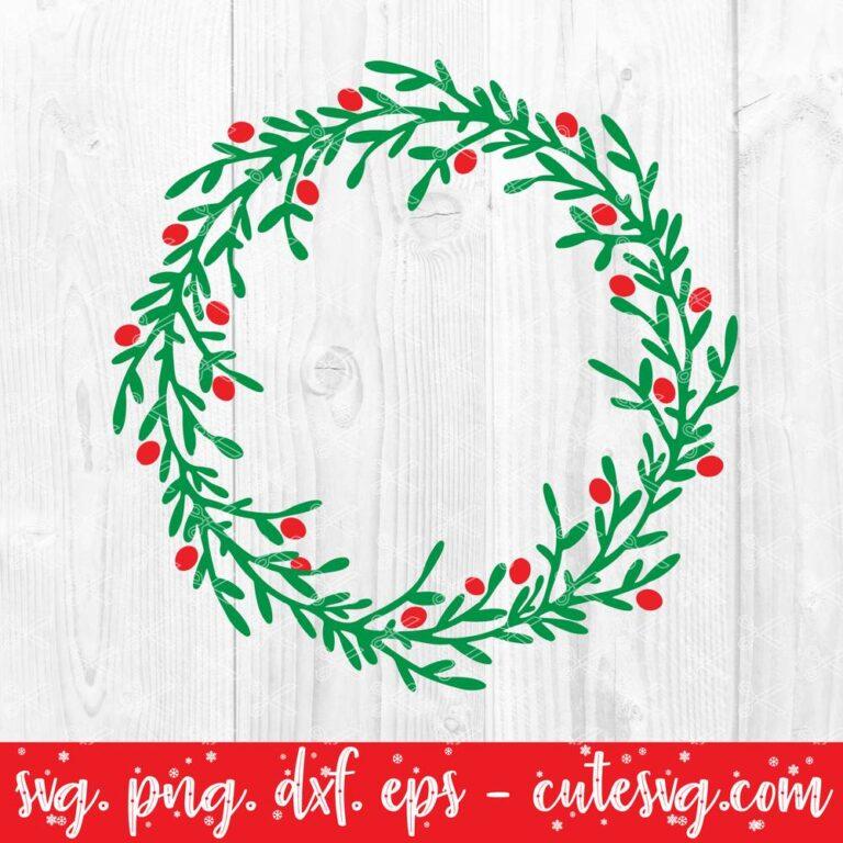 Christmas wreath svg