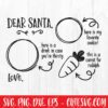 Dear Santa Cookies And Milk Svg