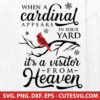 When A Cardinal Appears In Your Yard SVG Cut File