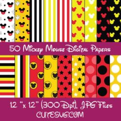 Mickey Mouse Digital Papers