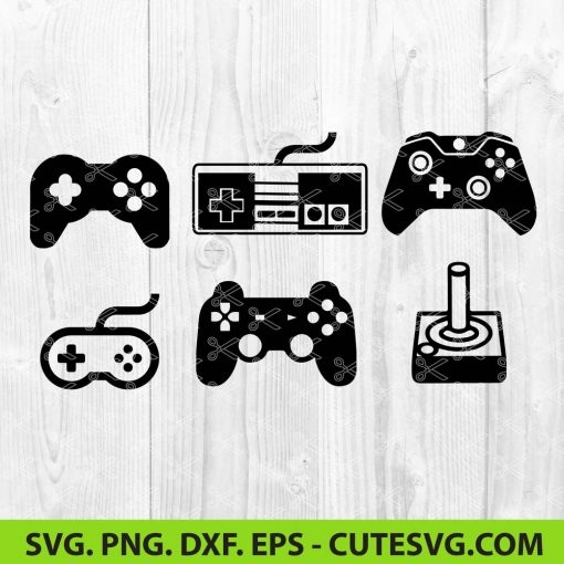 Old Console Controllers SVG Cut File
