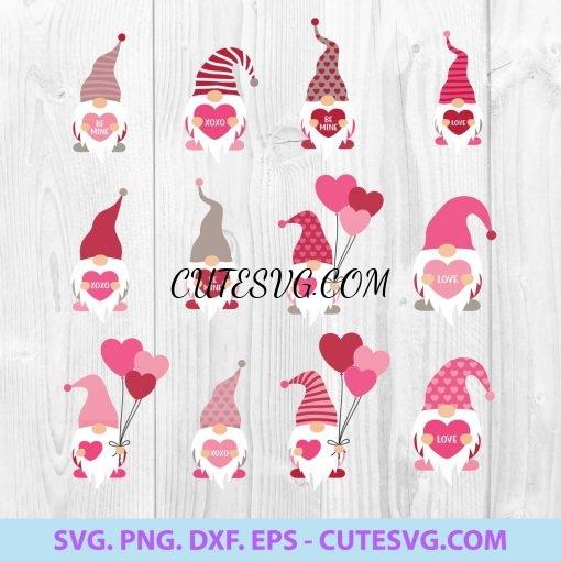 Valentine Gnome SVG Bundle